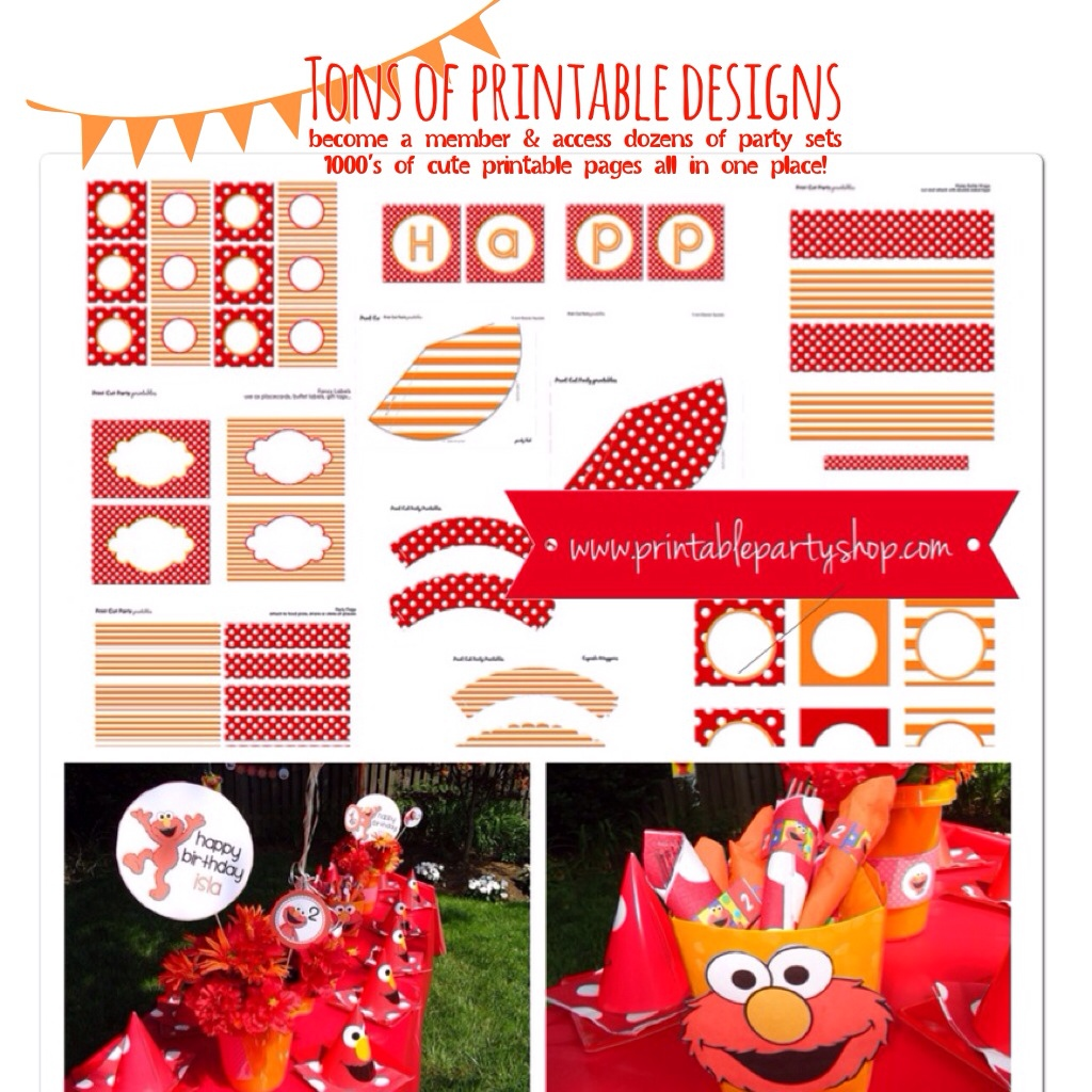 Printable Elmo Birthday Party Decoration