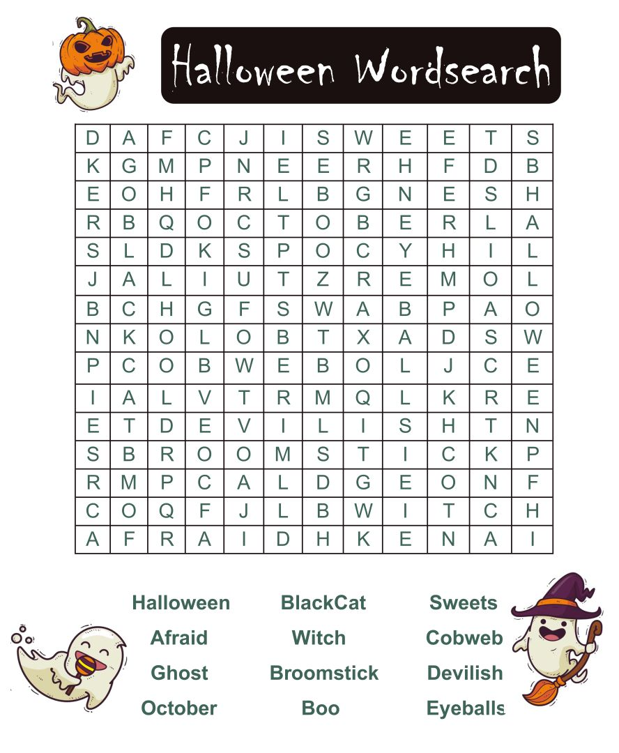 4 Images of Printable Halloween Word Games