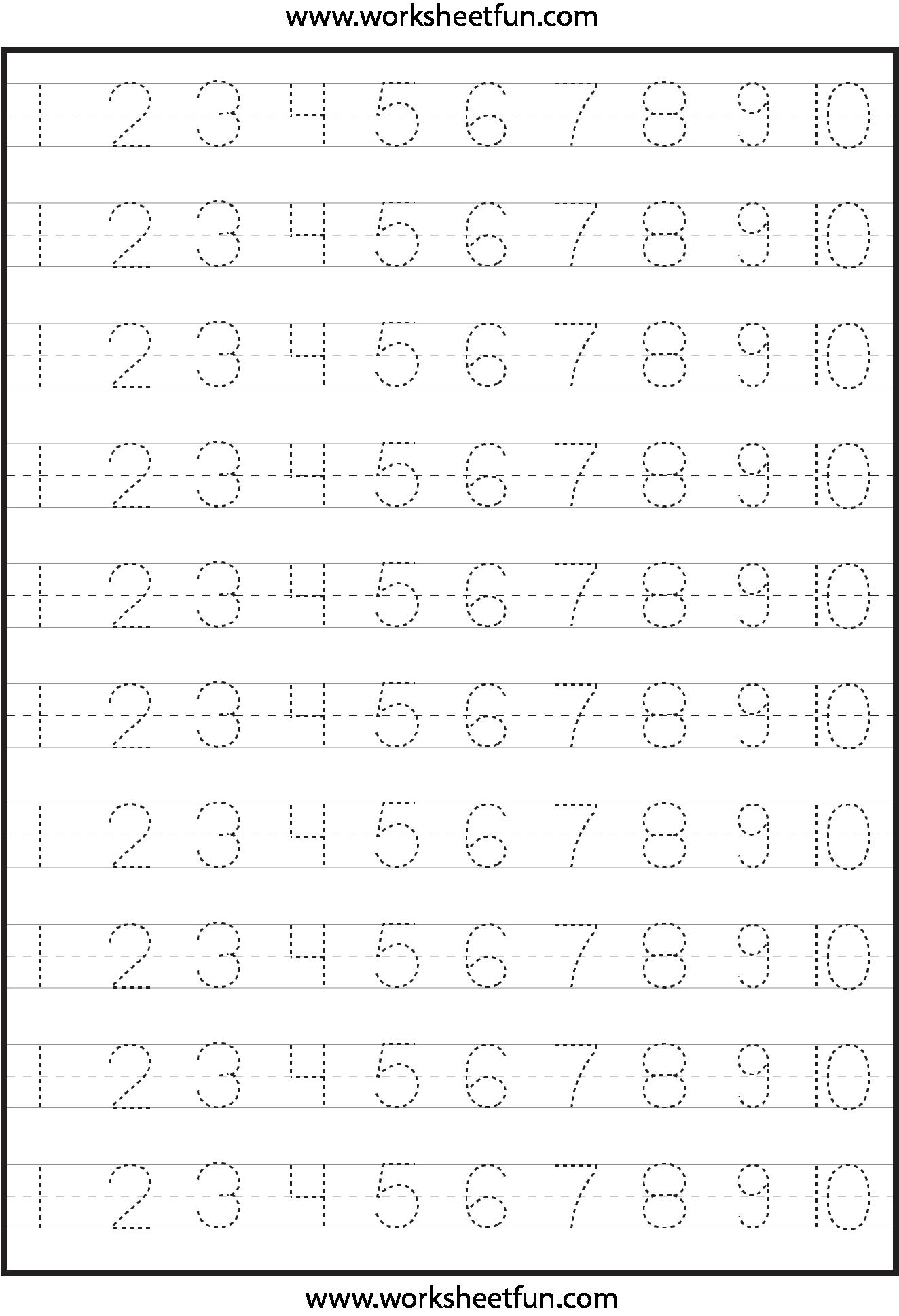 8 Best Images of Number Tracing Worksheets Free Printable - Number ...