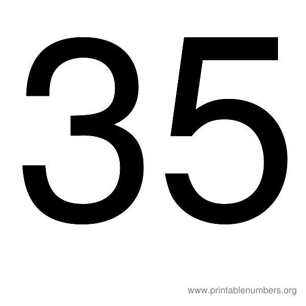 9 Images of Printable Number 35