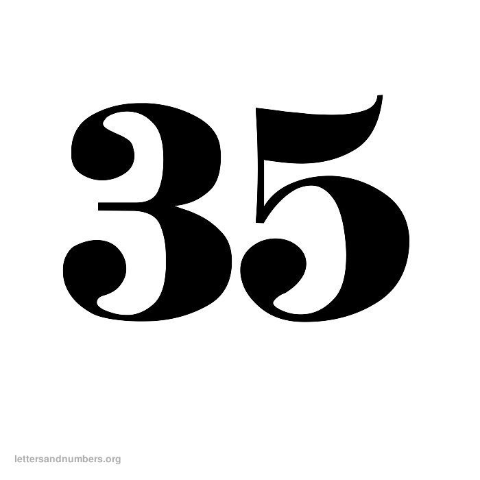 9 best images of printable number 35
