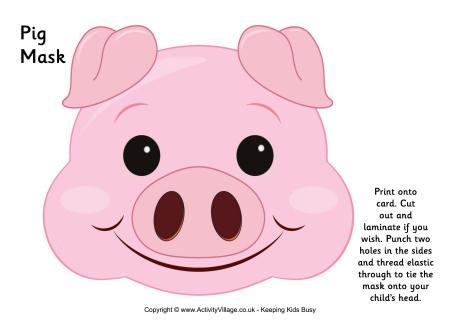 6 Images of Printable Pig Mask