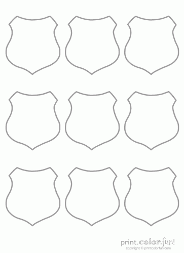 6 Images of Printable Blank Badge