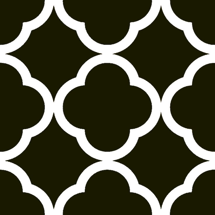 Printable Quatrefoil Stencil Pattern