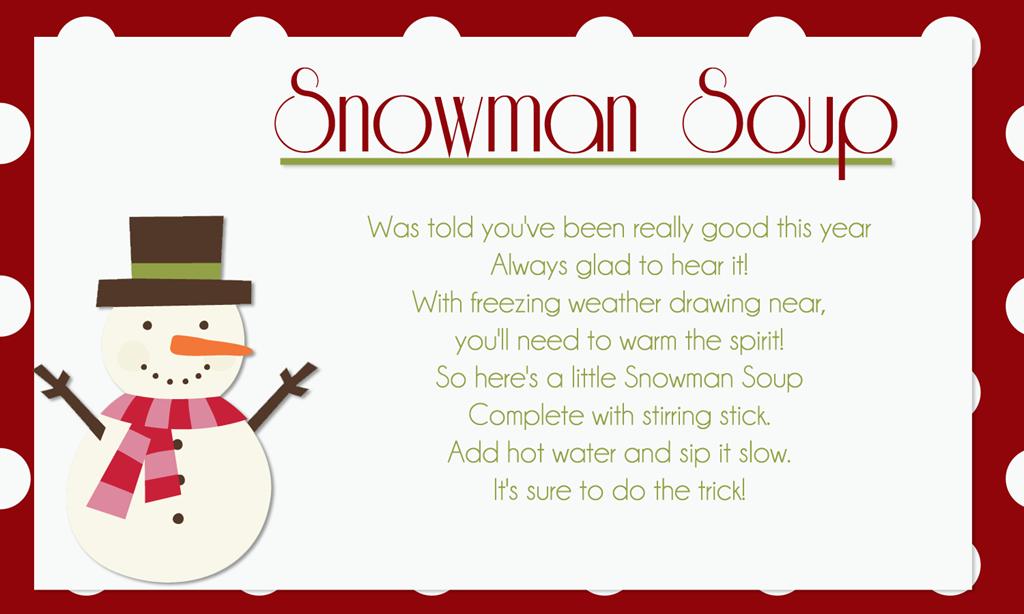Printable Snowman Soup Recipe