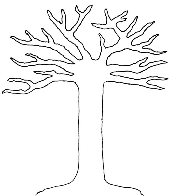 5 Images of Tree Outline Printable Templates