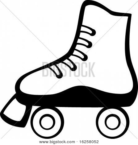 7 Images of Free Printable Roller Skate Template