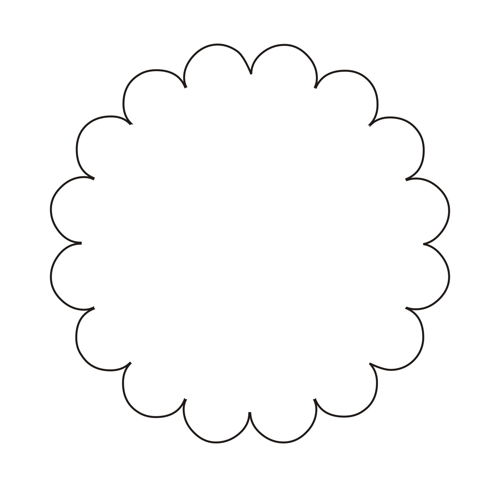 7 Images of Free Printable Flower Shape Templates