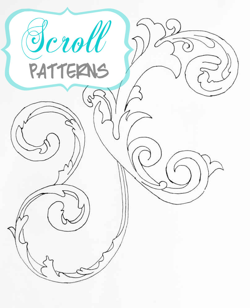 4 Images of Free Printable Scroll Designs