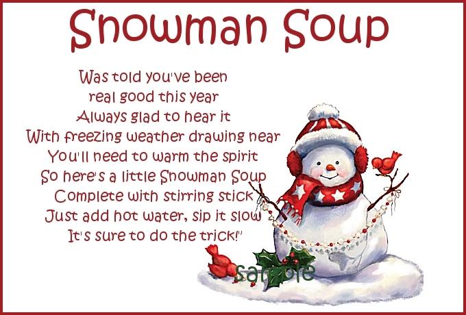 Snowman Soup Templates