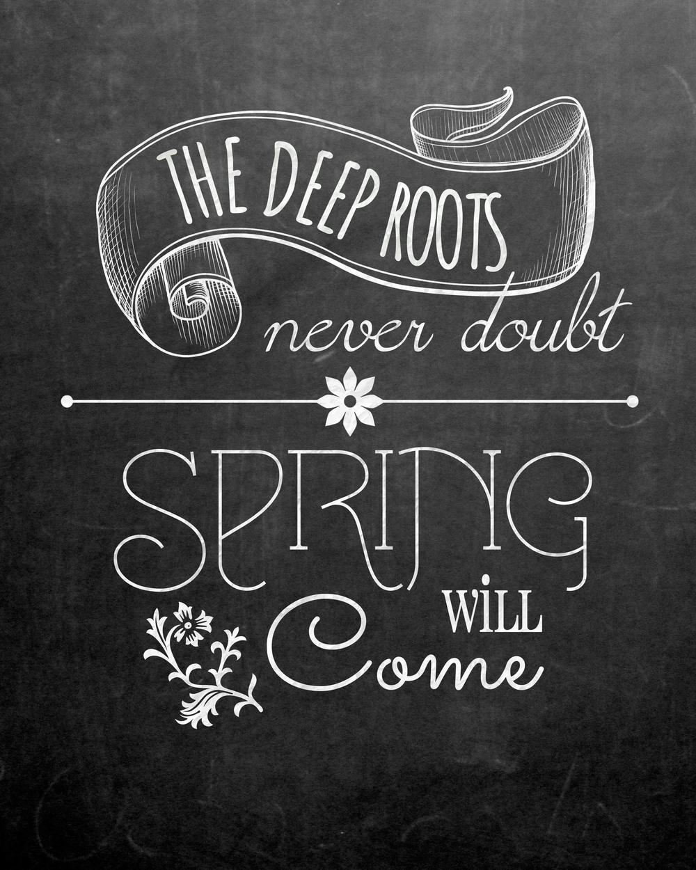 6 Images of Spring Chalkboard Art Printable