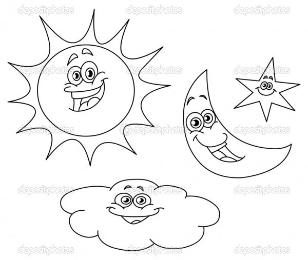 top 20 printable star coloring pages - Coloring Pages Stars Moons