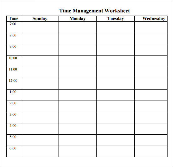 10 best images of printable time management log time for Time management planner templates free