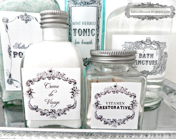 Vintage Toiletry Labels Printable