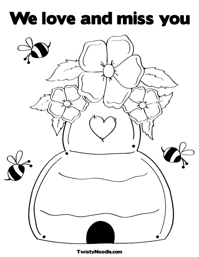 i miss daddy coloring pages - photo#16