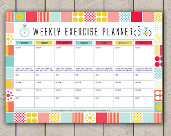 9 Best Images of Printable Exercise Log Etsy - Printable ...
