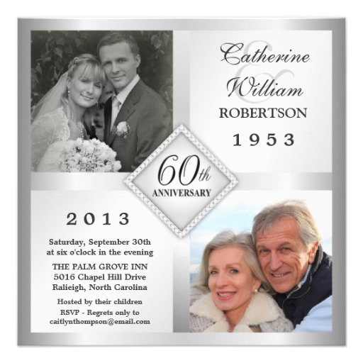 6 Images of Free Printable 60th Anniversary Invitations
