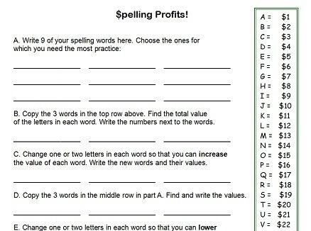Year 6 Spelling Homework Worksheets - Essay for you