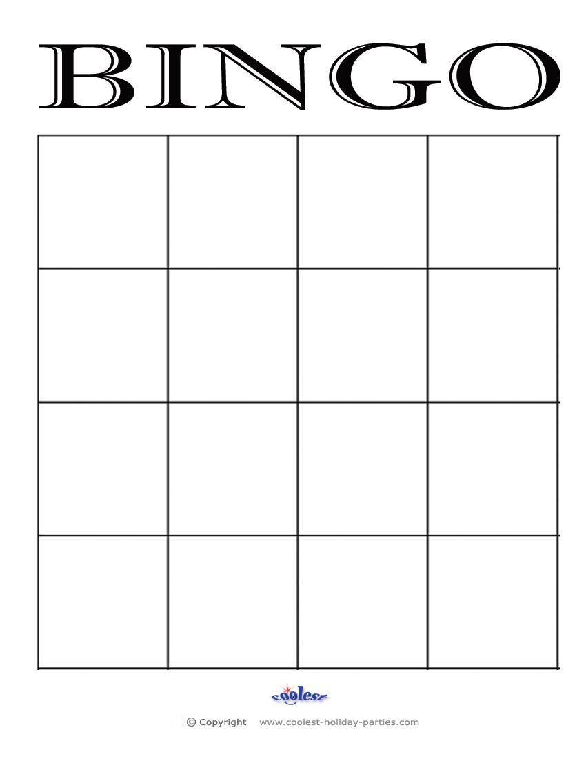 6 Images of 4x4 Blank Bingo Cards Printable