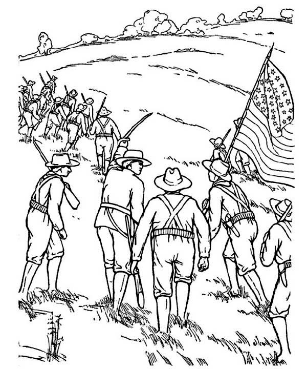 civil war solders coloring pages - photo#13