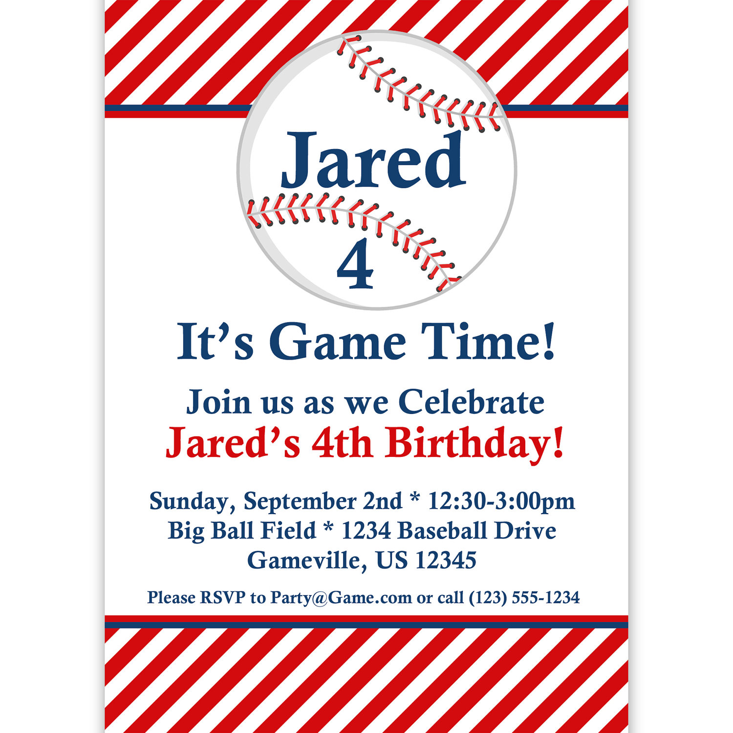 Baseball Invitation Template – Free Printable Sports Birthday Invitations
