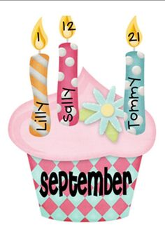 4 Images of Printable Candles For Birthday Bulletin Board