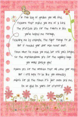 Birthday Mom Poems From Kids