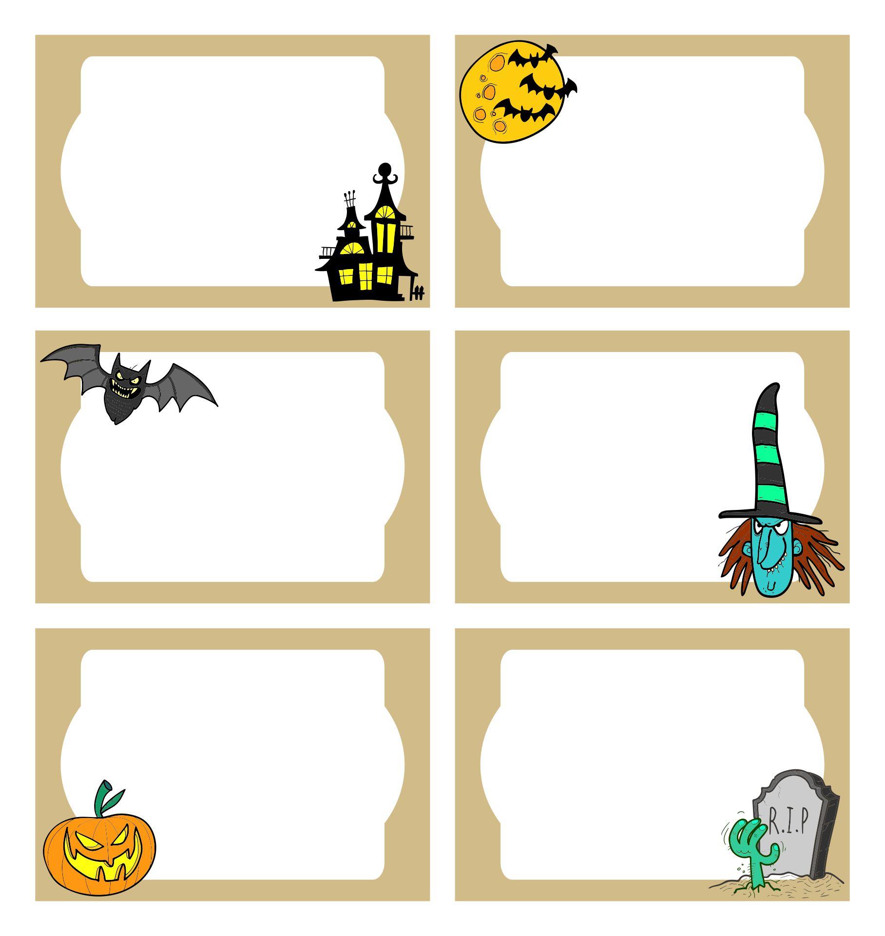Blank Halloween Labels