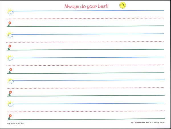 blank kindergarten writing paper 341895 - Kindergarten Writing Paper