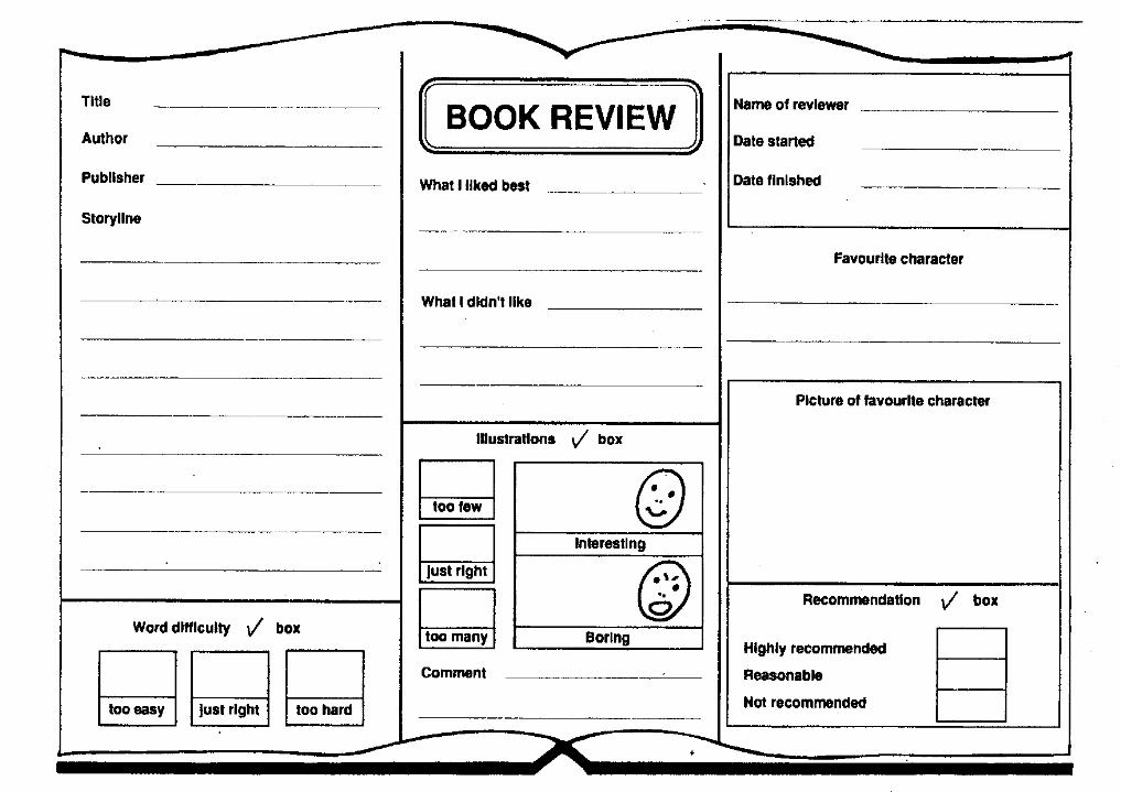 7 Best Images of Book Review Printable Template - Book Review ...