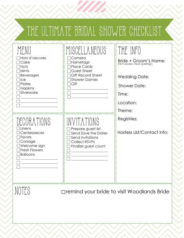 7 Images of Bridal Shower Planning Printable
