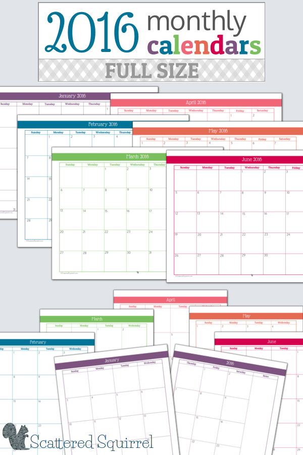 6 Images of Printable Personal Planner 2016