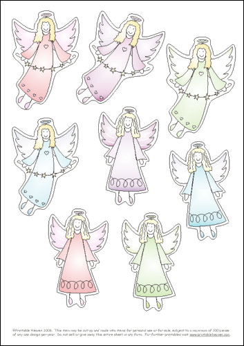 5 best images of printable christmas cutouts free for Angel tree decoration template
