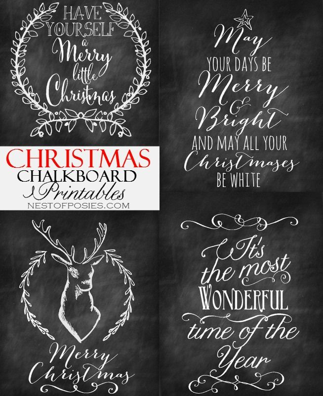 7 Images of Pinterest Christmas Chalkboard Printables