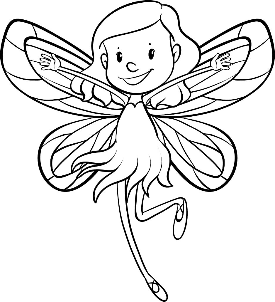 6 best images of fairy cut out printables fairy for Christmas fairy coloring pages