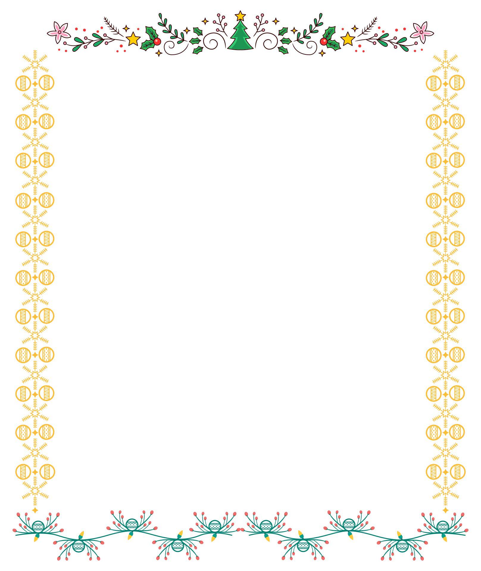 Christmas Holiday Border Paper