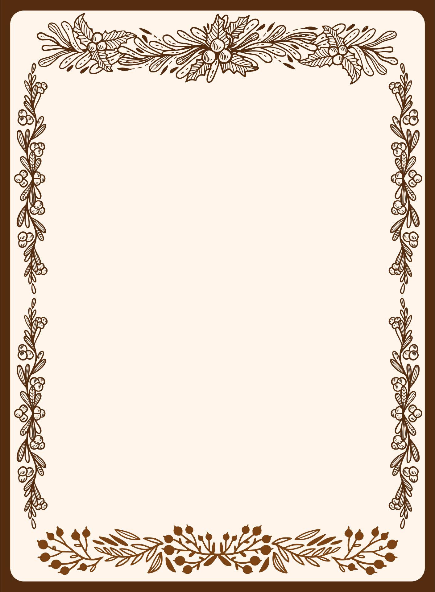 Christmas Theme Printable Paper Borders