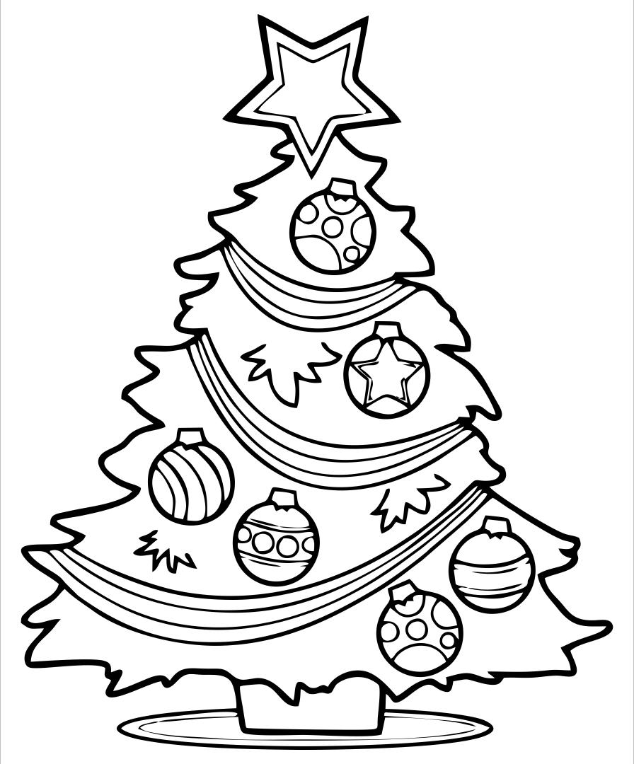 Christmas Tree Coloring Page Print