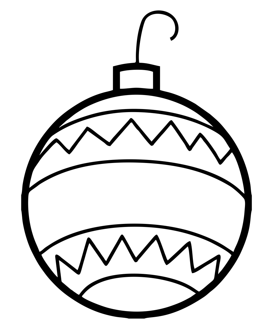 Christmas Tree Ornaments Coloring Sheet