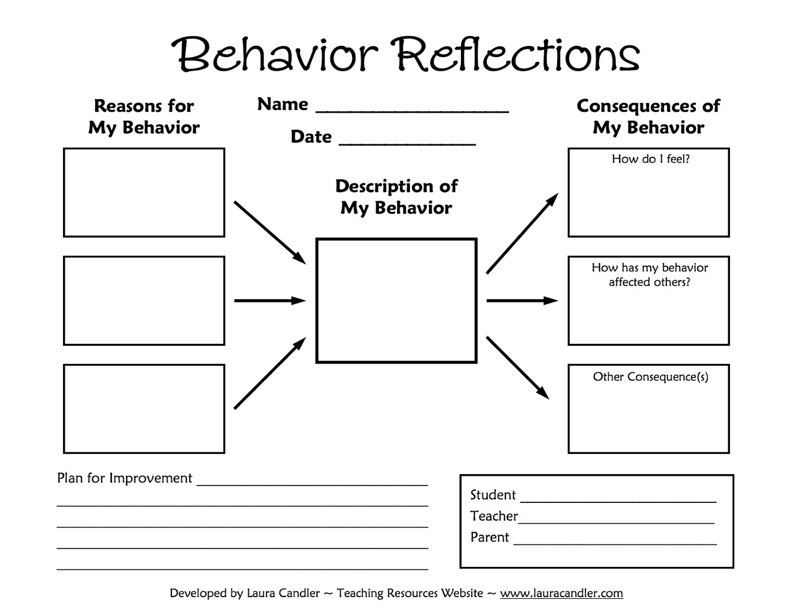 7 Images of Printable Behavior Sheets