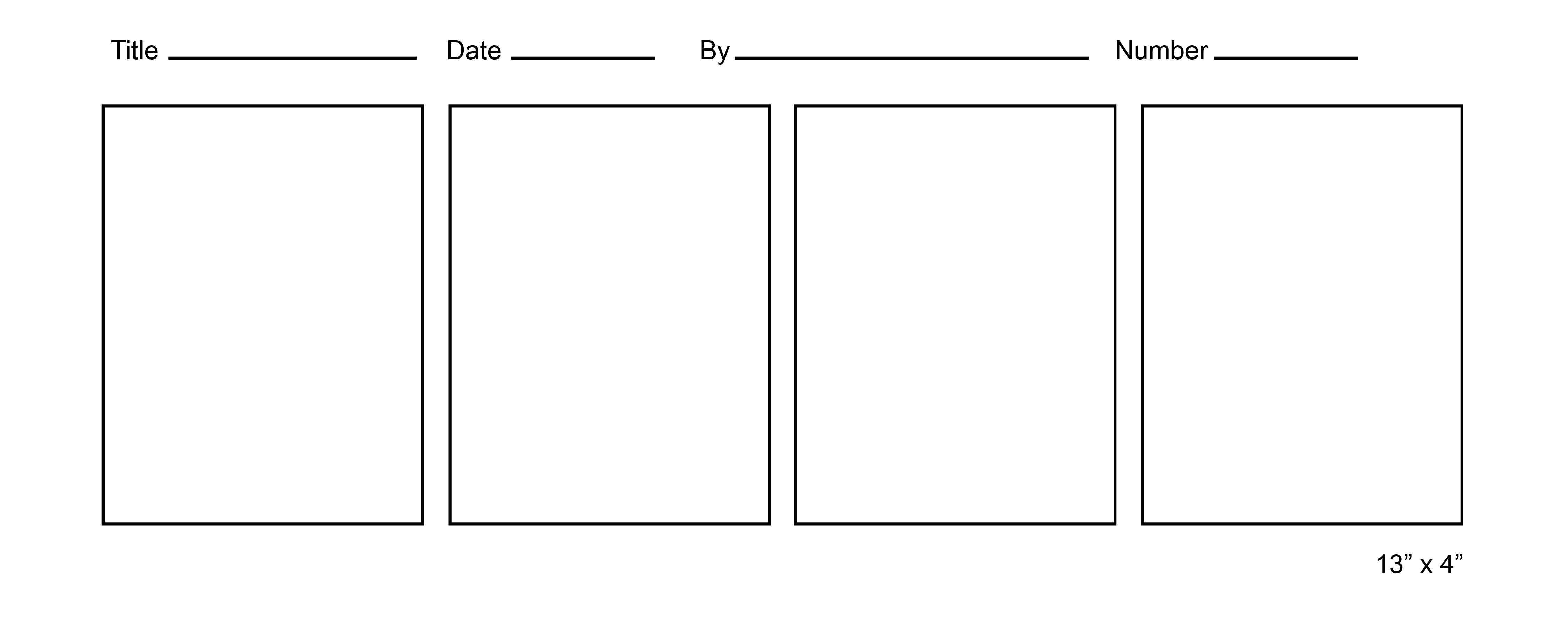 printable blank comic strip template for kids - 7 best images of printable blank comic templates