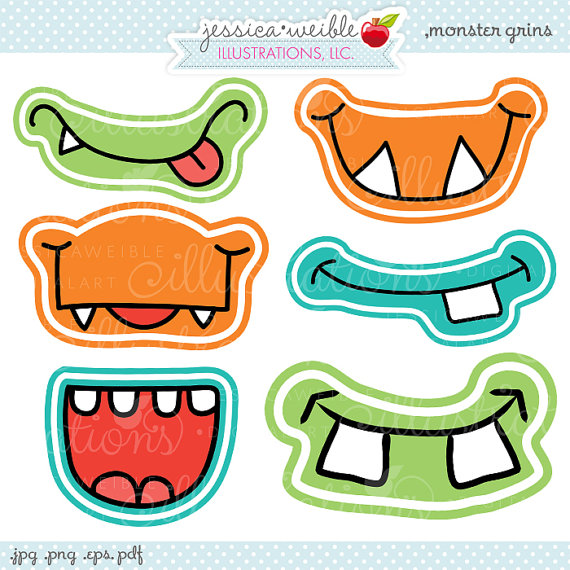 5 Images of Printable Monster Faces