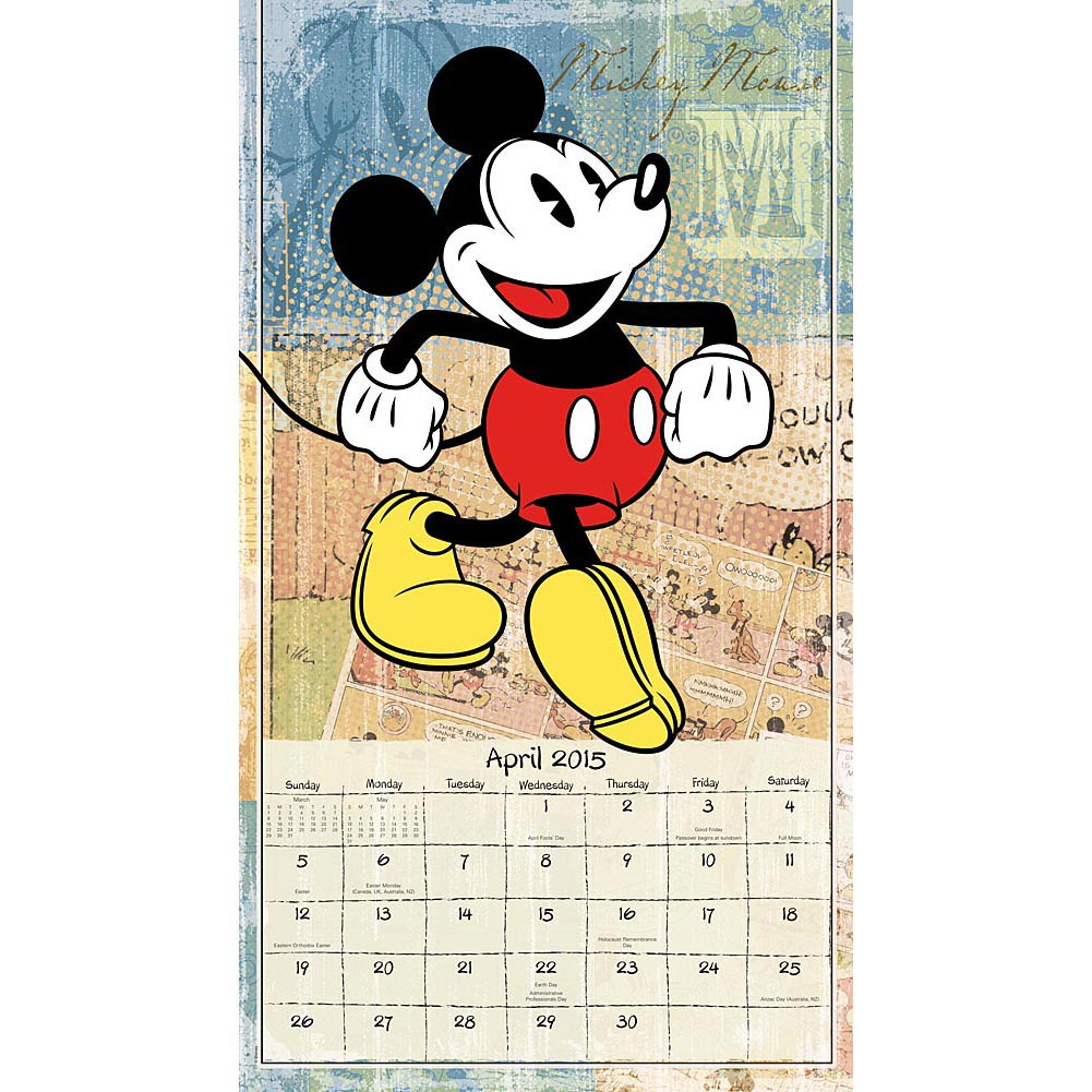 Disney Mickey Mouse Printable Calendar 2015