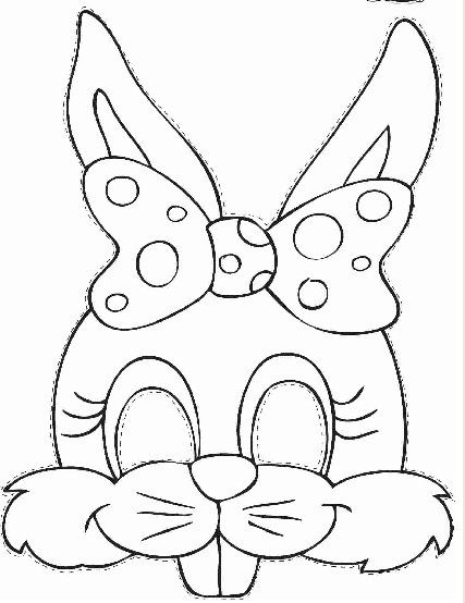 9 Best Images Of Rabbit Mask Template Printable Easter