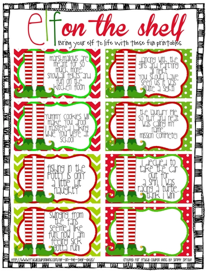 6 Images of Printable Elf Notes