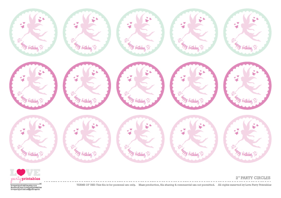 7 Images of Fairy Party Printables Free