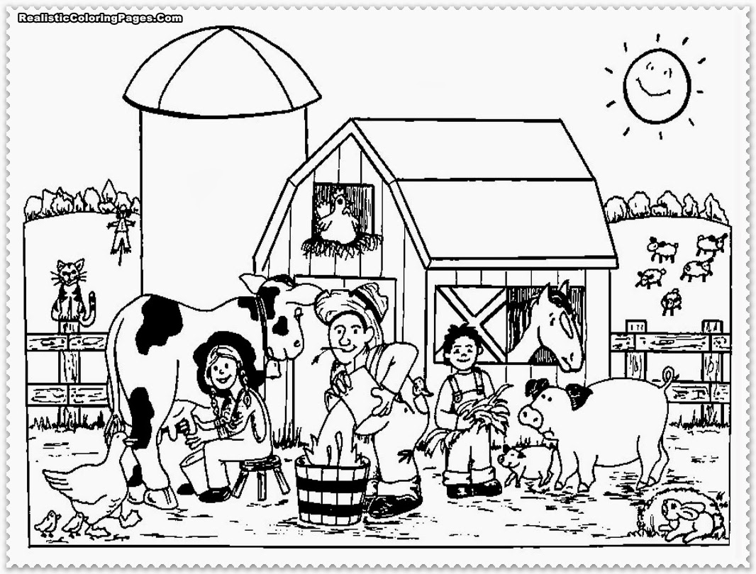 6 Images of Free Printable Coloring Pages Farm Animals