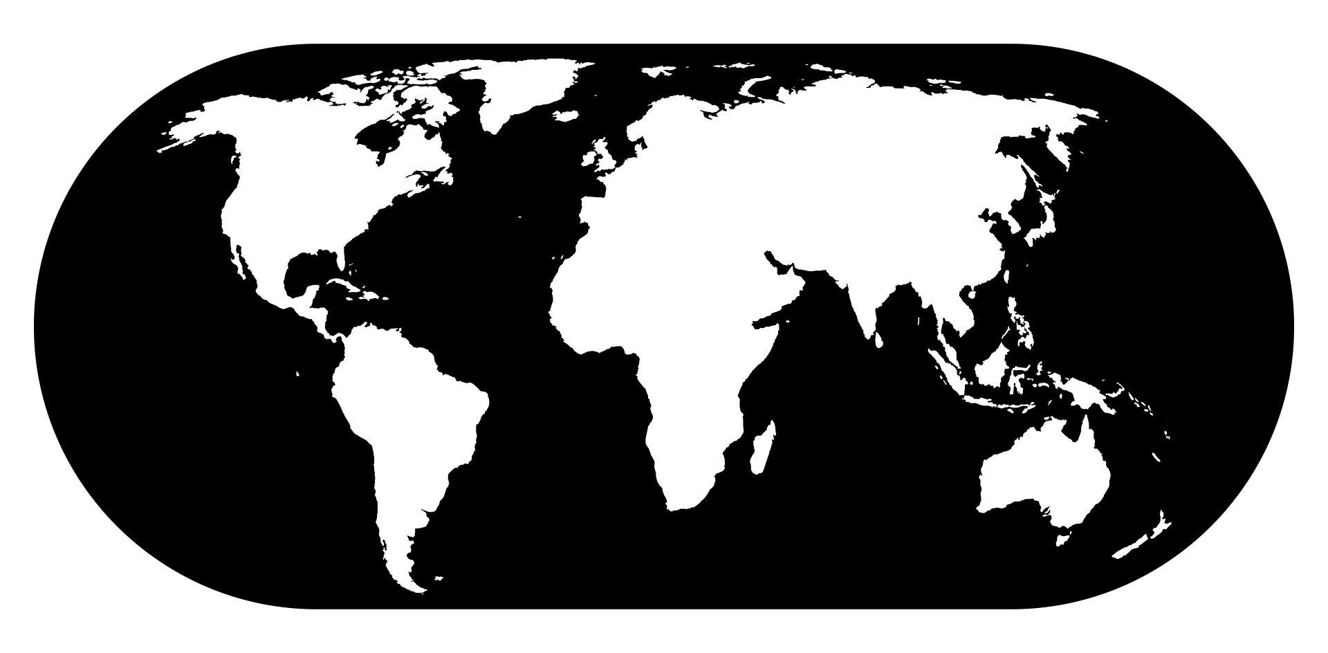 World Map Black And White Printable 6 Best Black And White World Map Printable   printablee.com