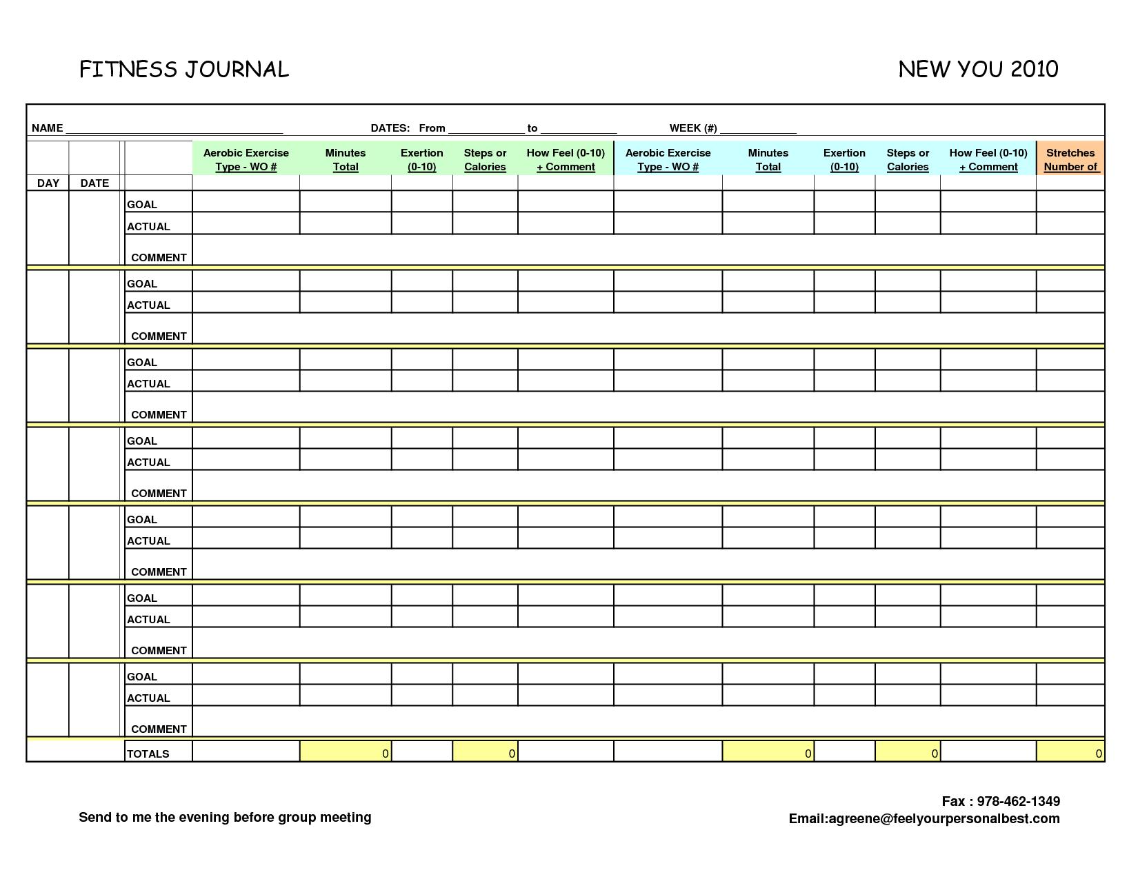 diary log template