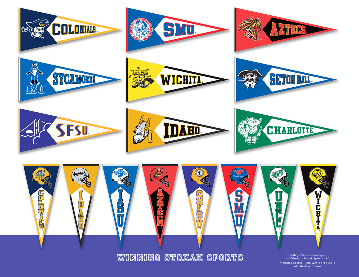 Free College Pennant Clip Art